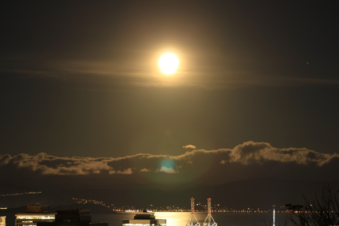 The 21 March 2019 Supermoon, or the more common name, Perigee Syzygy of the Sun, Earth and Moon system.